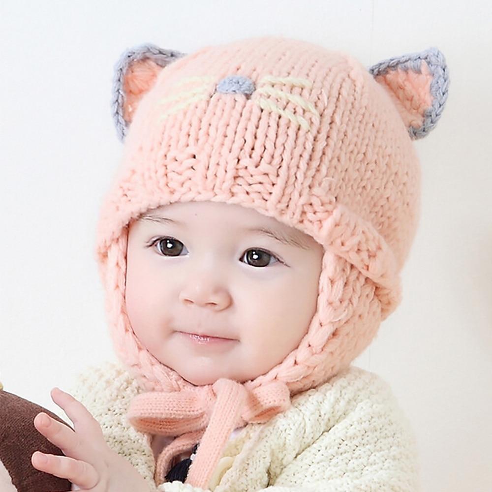 TELOTUNY cute baby beanie Cat winter hat cap for boy girl newborn photography props (6M-18M) u71207