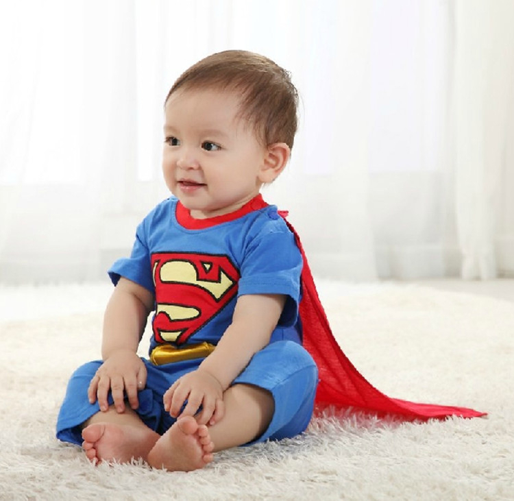 Superman Suit Fancy Dress SuperHero Costume for Baby Toddler Kid Boy Romper