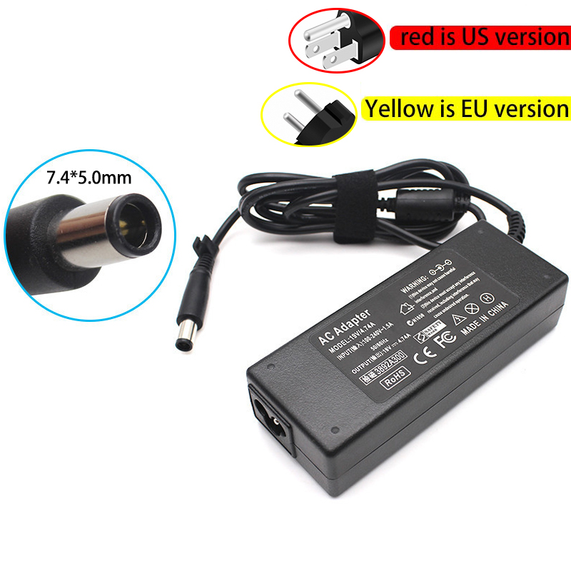 7.4*5.0mm 19V 4.74A 90W Laptop AC Adapter with power Cord For hp