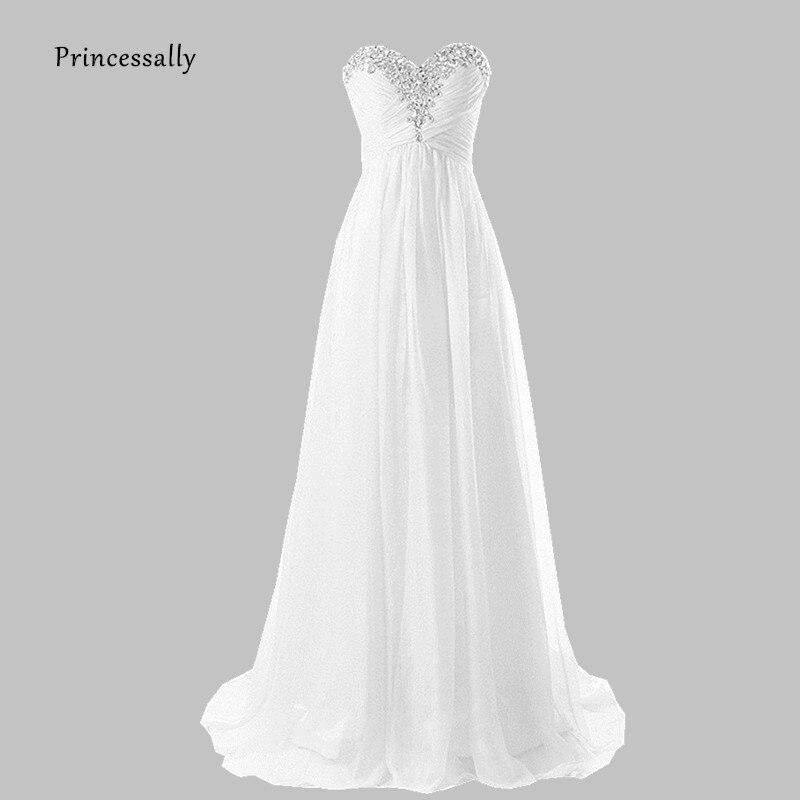 SALE NEW LONG DESTINATION WEDDING DRESS SWEETHEART BRIDAL BRIDE BALL GOWN WHITE