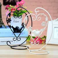 Hanging Design Metal Heart Lantern Candlestick Wedding Home Decor Bird Cage Candle Holder Home Decoration P5