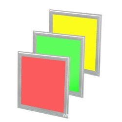 Darmowa wysyłka koszt 620x620mm panel LED RGB 40 w 120lm/w kolorowe wymienne możliwość przyciemniania panel LED RGB światła