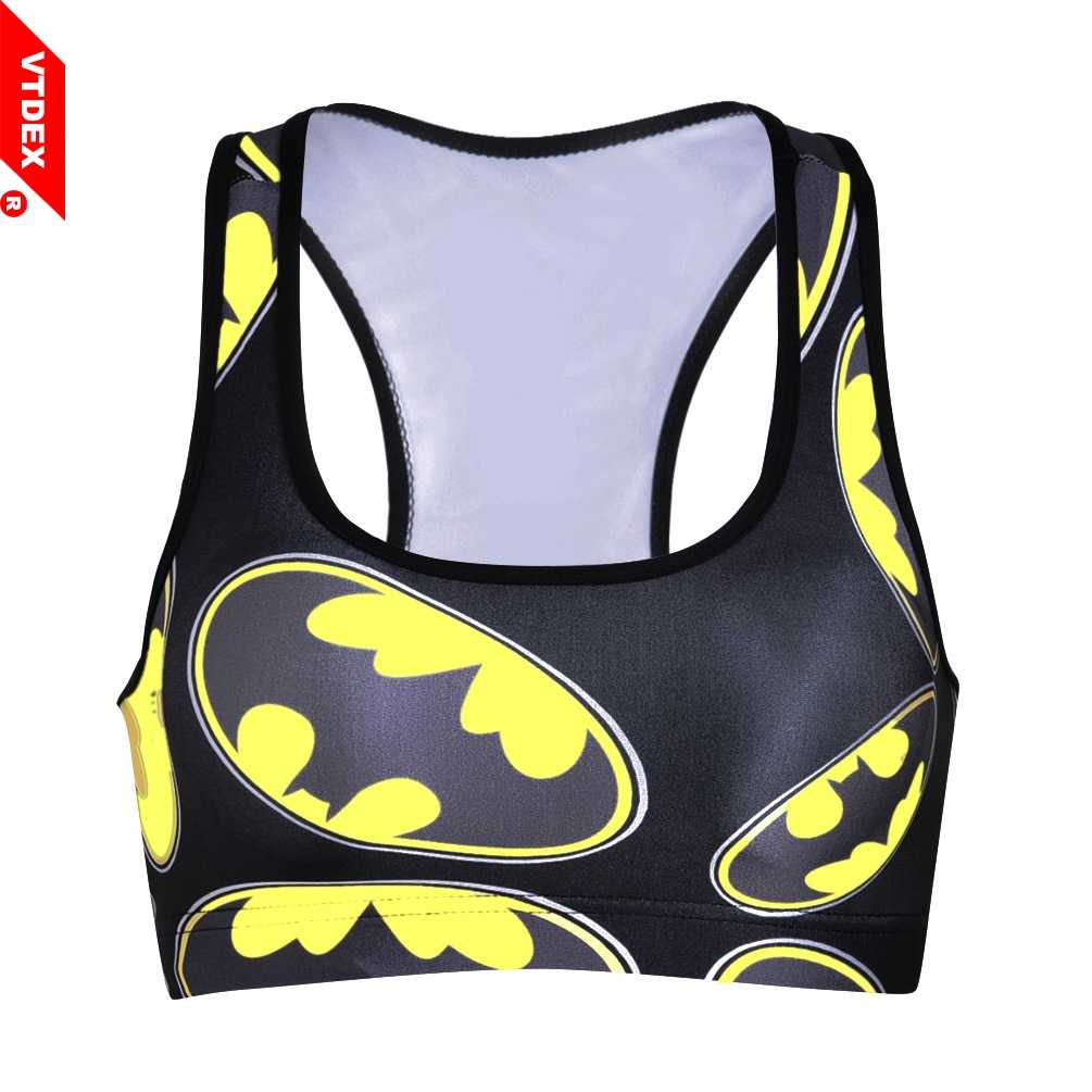 a6e20d193 Detail Feedback Questions about 2018 Batman Sports Bras Top Deportivo Mujer  Cropped Breathable Women Yoga Bra Tanks GYM Sexy Push Up Shakeproof Fitness  ...