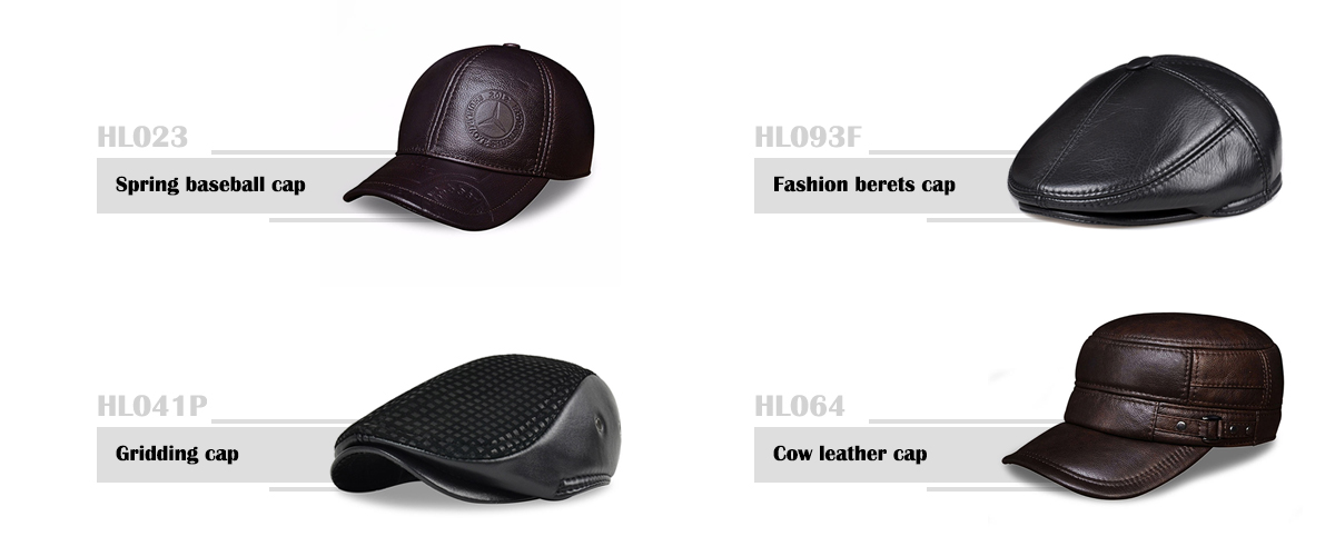a412ce56d97 ... HL023 Spring genuine leather men baseball cap hat high quality mens  real leather adult solid adjustable