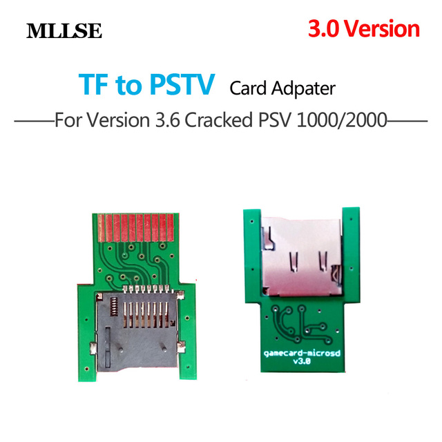 SD2Vita For PSVita Game Card to Micro SD / TF Card Adapter for PS Vita 1000 2000 SD Memory Card