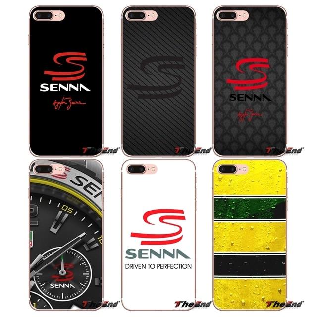 e1b3e6abec0 For Samsung Galaxy S2 S3 S4 S5 MINI S6 S7 edge S8 S9 Plus Note 2 3 4 5 8  Coque Fundas Designer Case Ayrton Senna Racing Logo Art