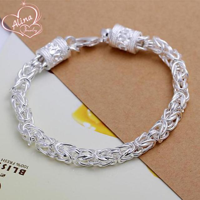 bangle amazon women double silver trendy bracelet fashion com bracelets jewelry seaisee charm heart dp sterling