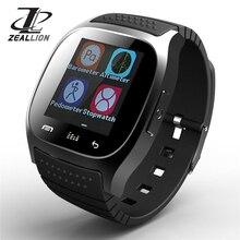 Дешевые Zeallion Смарт-часы M26 тактовую синхронизацию уведомлений Поддержка Bluetooth Подключение для iphone телефона Android SmartWatch