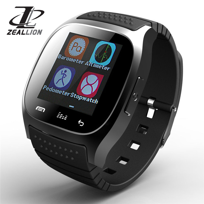 ZEALLION Smart Watch M26 Clock Sync Notifier Support Bluetooth Connectivity for iphone Android Phone Smartwatch