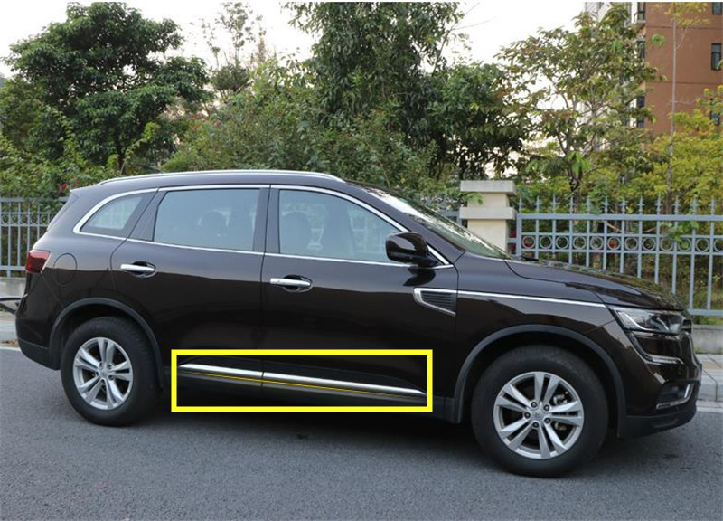Car Side Door Body Trim stainless steel For Renault Koleos 2017 2018 Molding Plate Cover Sticker Glossy Silver AccessoriesCar Side Door Body Trim stainless steel For Renault Koleos 2017 2018 Molding Plate Cover Sticker Glossy Silver Accessories