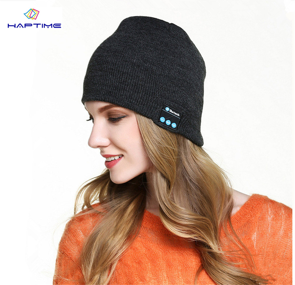 Bluetooth Beanie Hat and TouchScreen Gloves Knitted Bluetooth Music Hat Built-in Stereo Speakers Winter Hat for Outdoor Sports ladybro warm pom pom hat brand women hat winter knitted velvet stripe skullies beanie for women fashion music ski hat female
