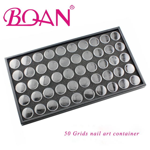 1 PC Nail Art Decorations Storage Case Nail Glitter Rhinestones Powder Flowers Collection Box Jewelry Container Free Shipping
