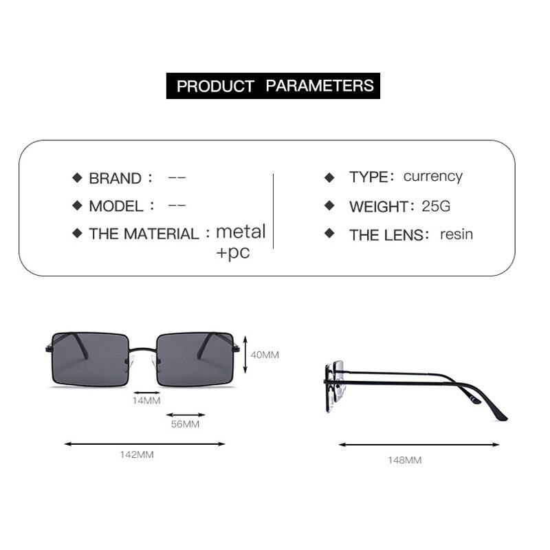 Vintage Square Sunglasses Women Men's Brand Designer Eyewear for Outdoor Ladies Sun Glasses Goggles Oculos UV400 Gafas 18928DF 5