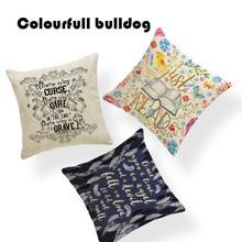 Famosa marca I Just Want To Read Book Toss Pillow vintage de mujer camas de coche 18 Lino decoración infantil funda de almohada de Navidad