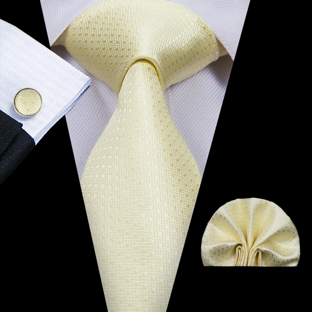 NEW $300 DOLCE /& GABBANA Scarf Men/'s Solid Beige Silk Wrap Necktie Cravat