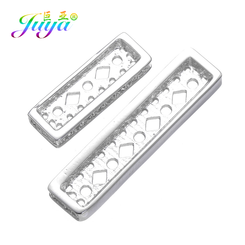 Juya Hand Made Luxury Jewelry Findings 3 Hole 5 Holes Copper Spacers Bars Accessories For Women Multi-row Pearls Jewelry Making