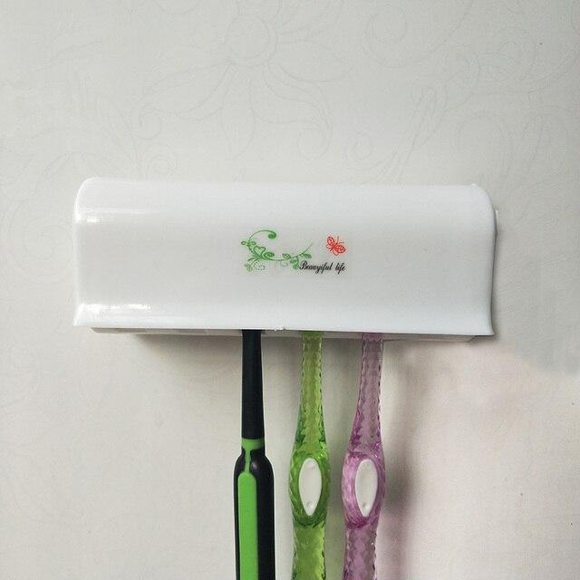 1 Pc 6 ラック防塵歯ブラシラック 2 吸引浴室キッチンホルダー歯ブラシ収納ホルダー浴室アクセサリー