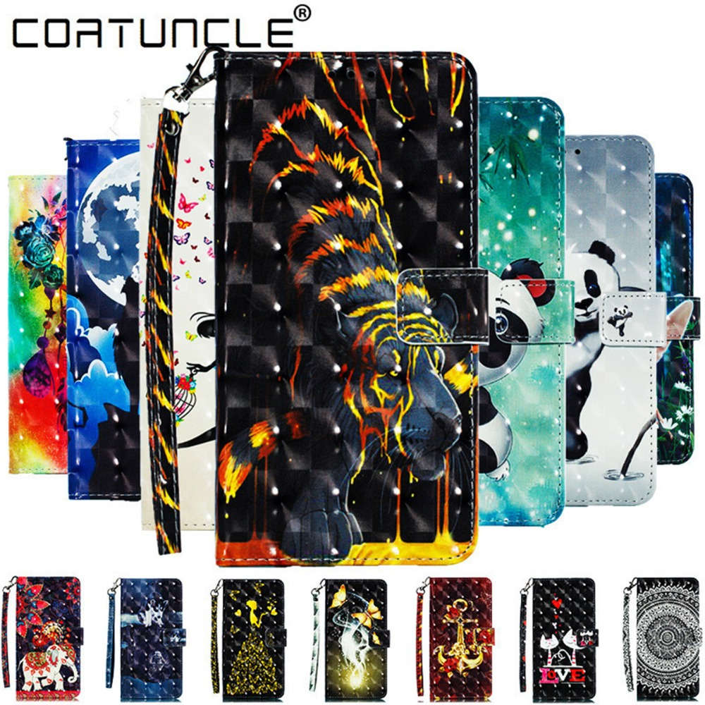 A7 2018 Leather case For Fundas Samsung galaxy A7 2018 case For Coque Samsung A7 2018 A750 case cover 3D Wallet Flip Phone cases