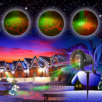 RG Static Star Laser Light Projector Outdoor Waterproof Red Green Xmas Decoration Lights Christmas Garden Shower