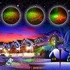 RG Static Star Laser Light Projector Outdoor Waterproof Red Green Xmas Decoration Lights Christmas Garden Shower