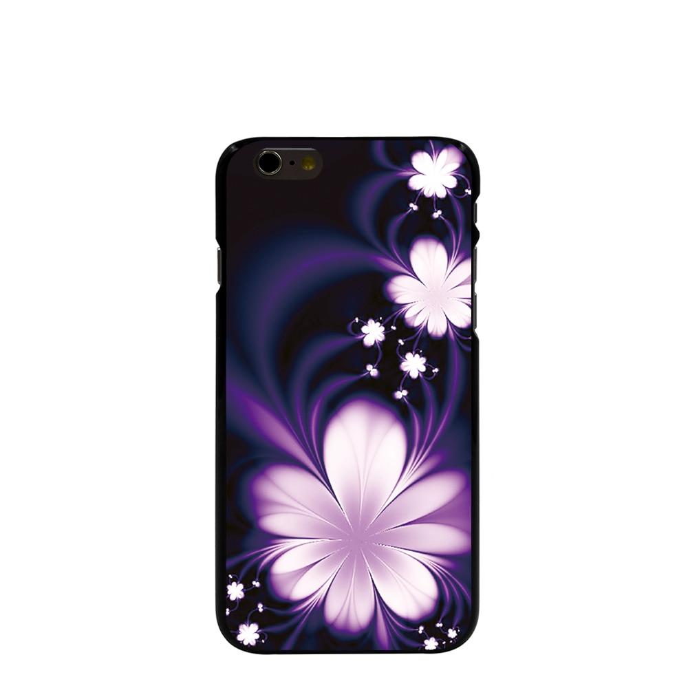 05374 Cool 3D Flower Desktop Wallpaper HD Hard black Cover cell phone Case for iPhone 4 4S 5 5S 5C 6 6S Plus 6SPlus