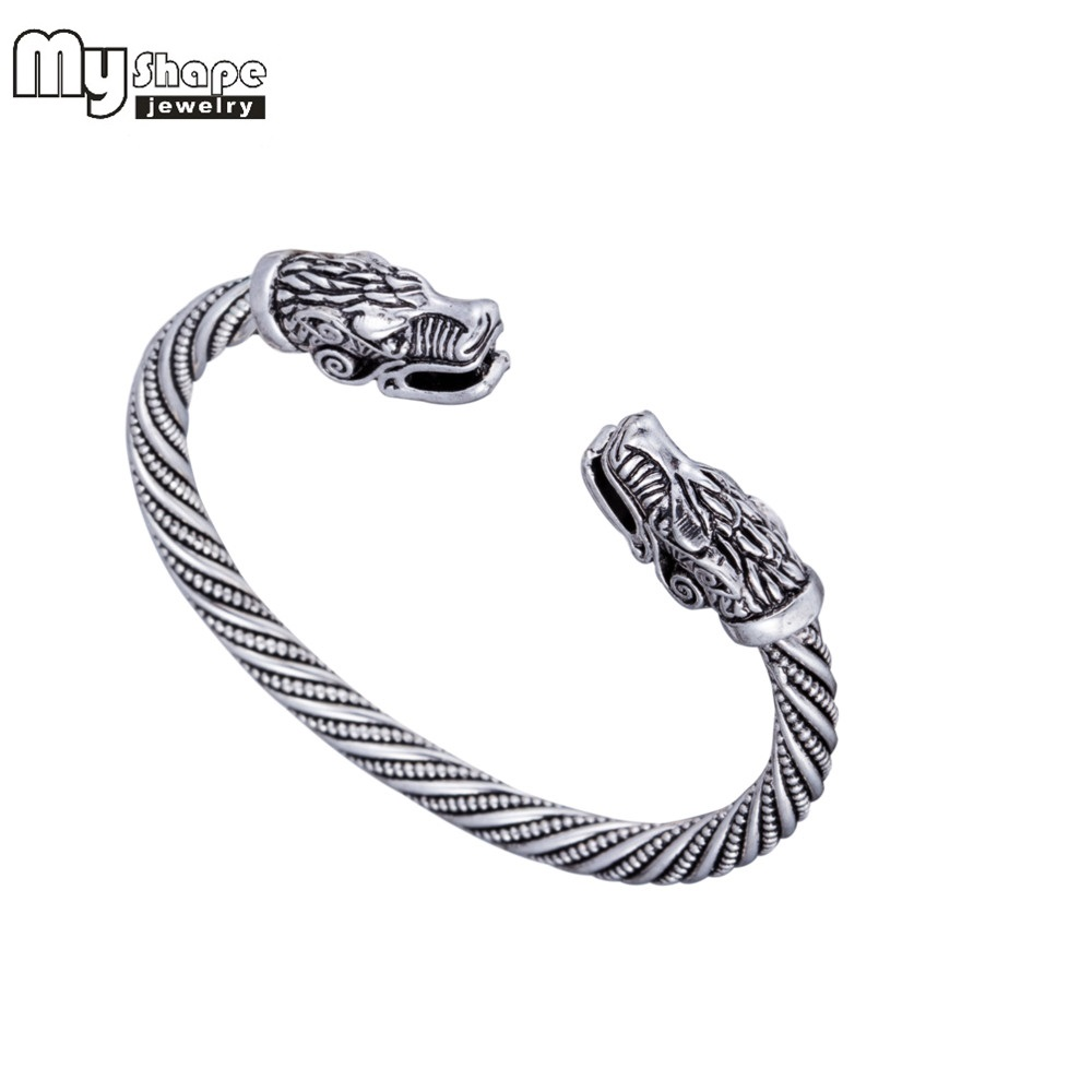 My Shape Viking Wolf Bracelet Indian Jewelry Zinc Alloy Men Wristband Cuff Bracelets for Women Bangles Fashion Accessories vintage alloy eagle shape bracelet for men