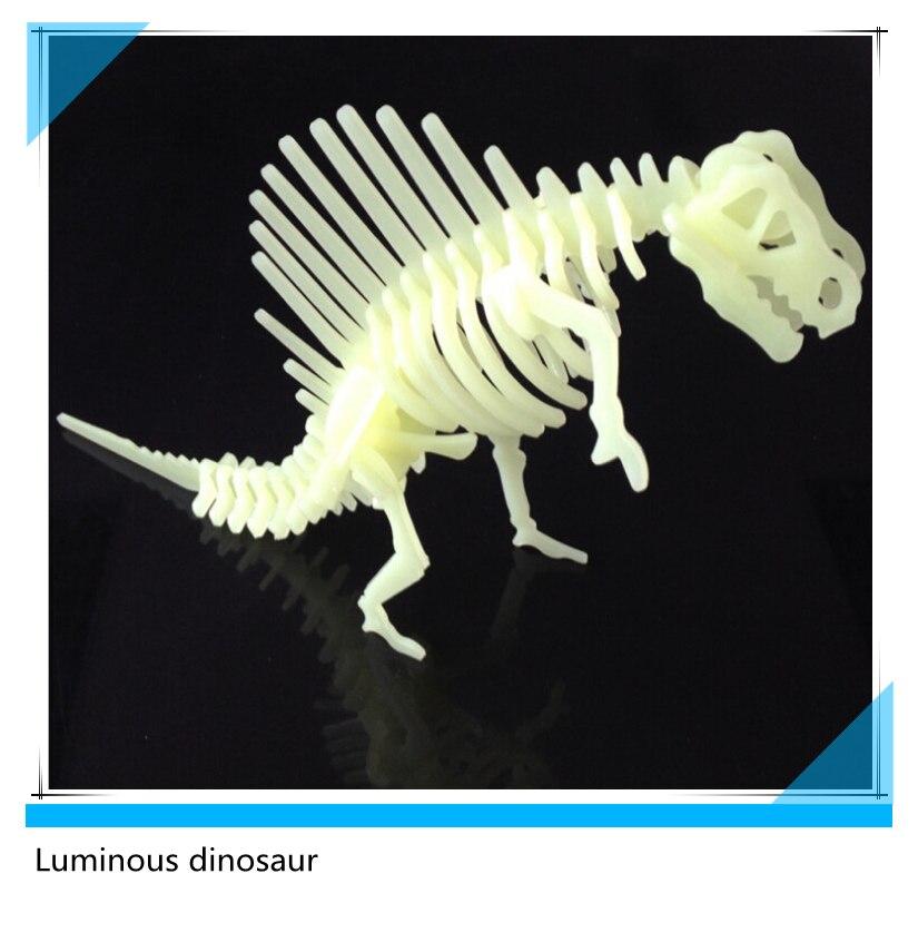 Doprava zdarma 3D PVC skládačka světelný dinosaurus Model Toy DIY dětské hračky pro děti a dospělé hračky