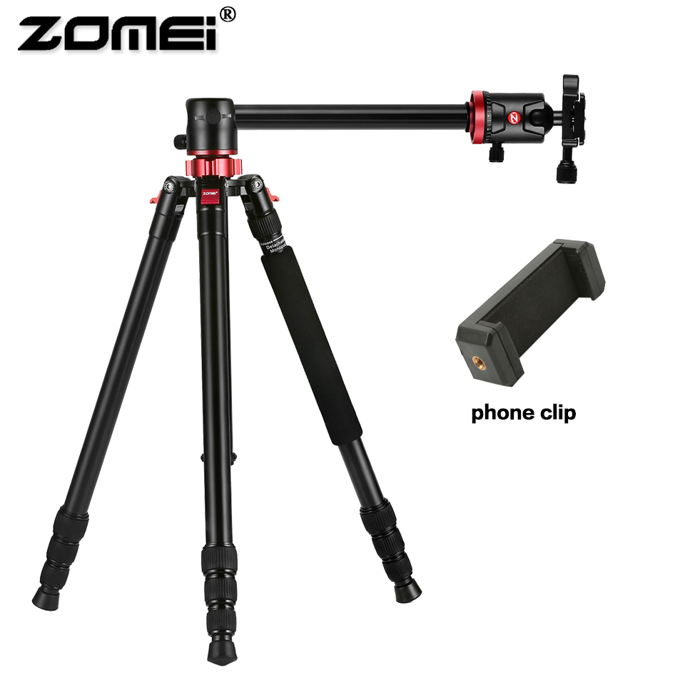ZOMEI Travel Camera Tripod M8 Aluminum Monopod Professional Tripod Flexible with Phone Holder for Live Broadcast