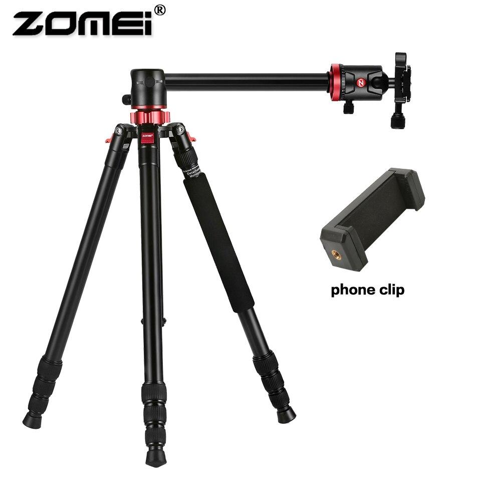 ZOMEI Voyage Caméra Trépied M8 En Aluminium Monopode Professionnel Trépied Flexible avec Support de Téléphone pour Diffusion En Direct DSLR Canon Sony