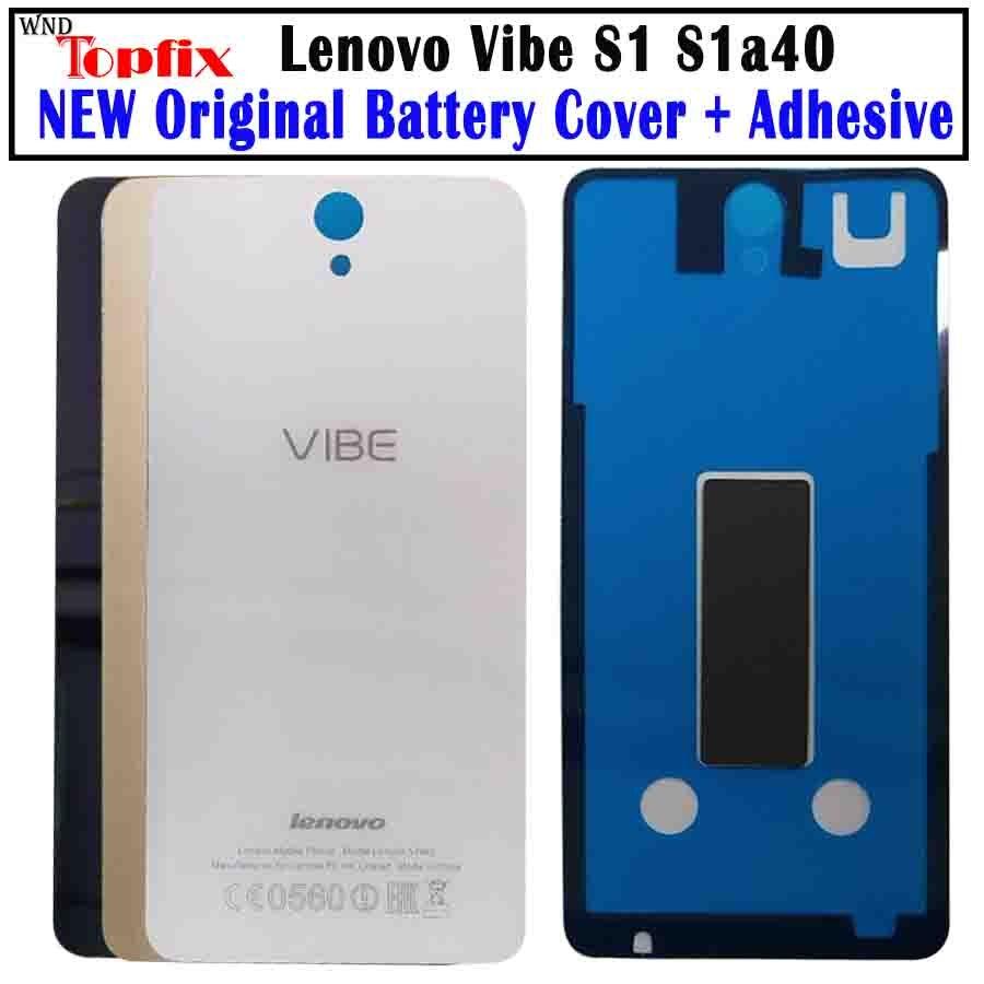 Оригинальный корпус для Lenovo Vibe S1, задняя крышка для камеры, стеклянный чехол для аккумулятора S1, чехол для Lenovo S1a40 с клеем