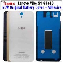 Habitação original para lenovo vibe s1 voltar capa de vidro da câmera s1 bateria capa para lenovo s1a40 bateria com cola