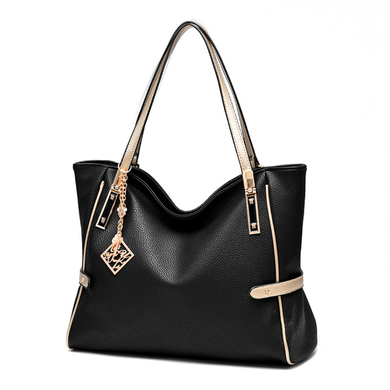 Exquisite Elegant Women Plain Tote Bag Fashion Large Hand Bag Ladies Functional Daily Leisure PU Leather