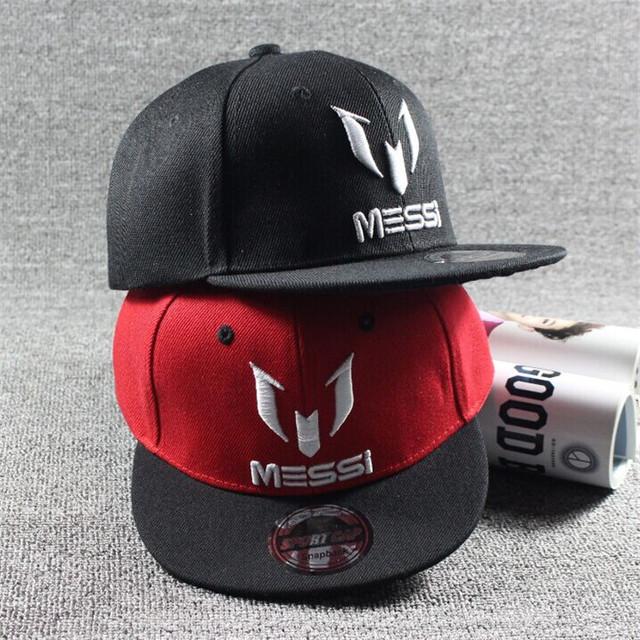 New Arrival Kids Soccer MESSI Embroidery Cotton Snapback Caps Hip Hop Hats Boys&Girls Children Cartoon Baseball Cap Hat Bone