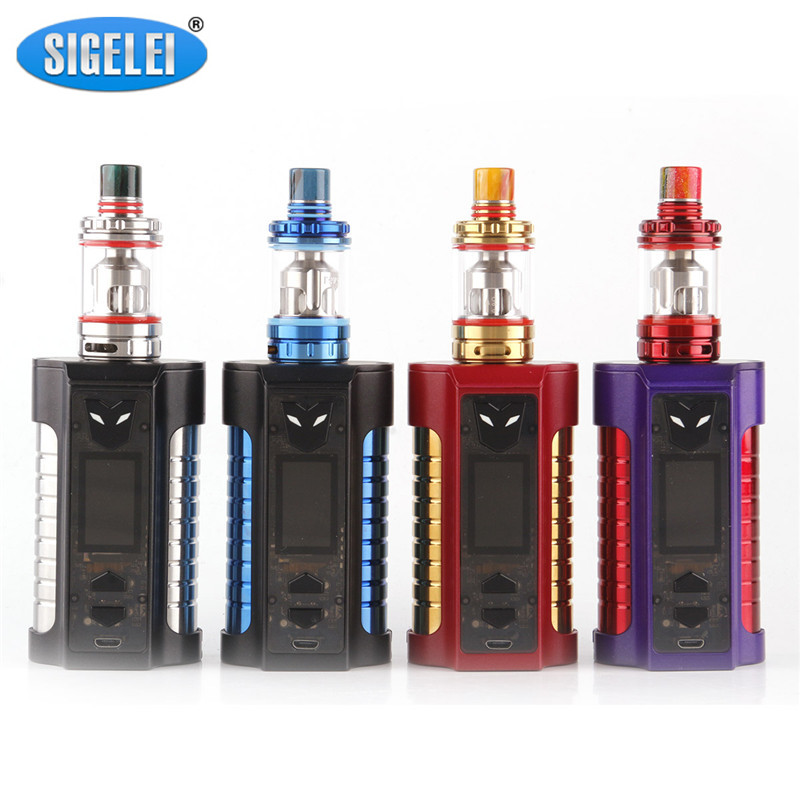 Original Sigelei MT 220W Kit Box Mod Kit 220w Vape Mod zinc alloy + stainless steel e cigarette Kit Support USB charging VS Mod дрип тип 810 steel vape