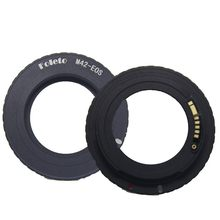Foleto Electronic AF Confirm M42 Mount Lens Adapter for Canon EOS 5D 7D 60D 50D 40D 500D 550D 600D Rebel T2i T3i 1100D (M42-E0S)(China)