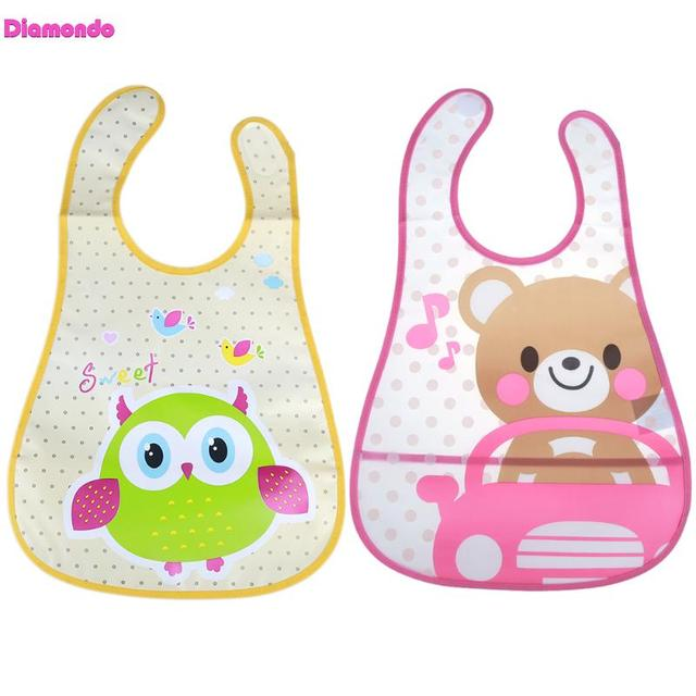 Waterproof Newborn Baby Bibs Burp Cloth Infants Saliva Towel Kids Feeding Lunch Bandana Apron Cartoon Baby Toddler Feeding Bibs