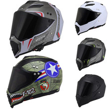 Motorcycle Full Face Helmet Cross Country Locomotive Rally Professional Motocross Racing Road DOT Safety