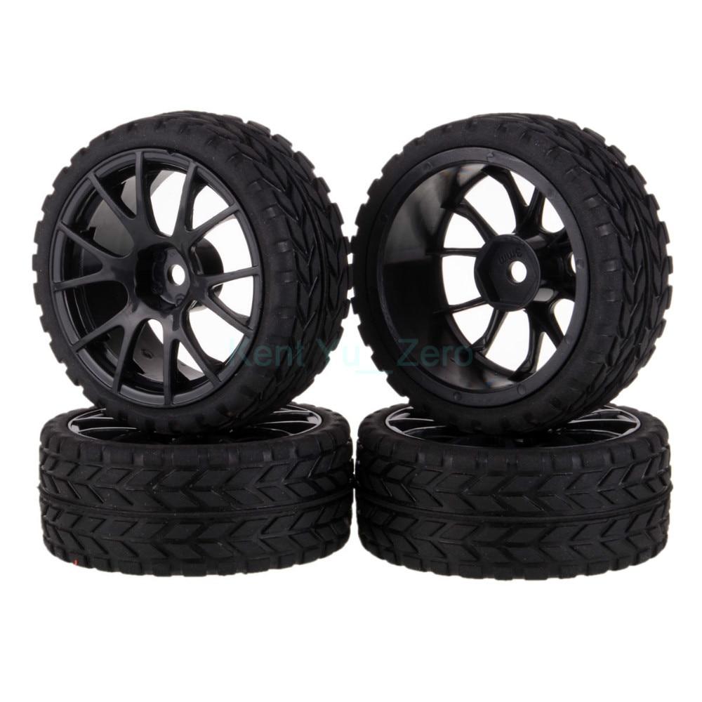 4PCS 12MM Hub HPI Redcat HSP Plastic Wheel Rim & Grip Rubber Tyre,Tires,For RC 1:10 Car On Road,9060-6017 4pcs set 12mm hex rubber tires tyre wheel rim for hsp rc 1 10 flat racing on road car pp0150 6rg toys vehicles accessories
