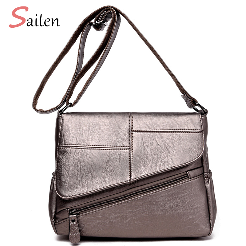 675501dc2006 Saiten Brand 2018 New Fashion Thread Crossbody Bags PU Leather Women  Messenger Bag Designer Shoulder Bags Ladies Sac Clutch Bag-in Shoulder Bags  from ...