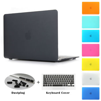 Crystal clear matte rubberized hard case cover for macbook pro 13 3 15 4 pro retina.jpg 350x350