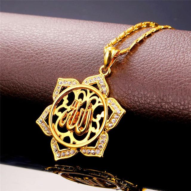 Kpop allah islamic big pendants necklaces goldsilver color kpop allah islamic big pendants necklaces goldsilver color rhinestone necklace jewelry for women religious aloadofball Images