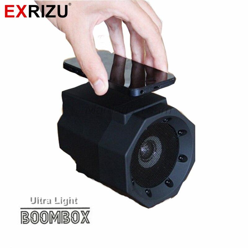imágenes para EXRIZU Boombox Altavoz De Inducción Táctil Ultra Light Mini Altavoces Subwoofer de ALTA FIDELIDAD Portátil Inalámbrico para el Teléfono Sin Cable Sin Vinculación