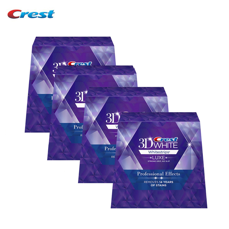 Crest 3D White Whitestrips Teeth Whitening Professional Effects Dental Oral Hygiene Strips Luxe Original 80 pouches 160 Strips casual men s athletic shoes with mesh and color block design