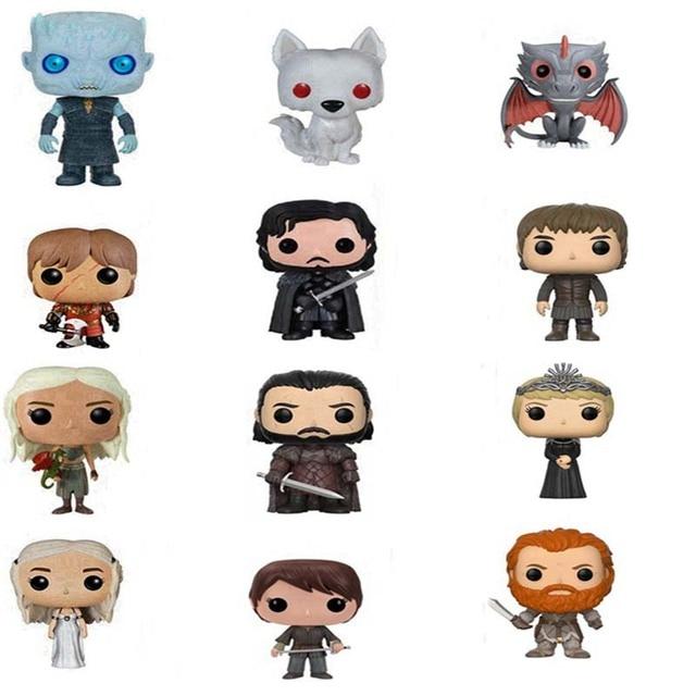 Game of Thrones Jon Snow Daenerys Targaryen Drogon Ghost Tyrion Lannister Vinyl Action & Toy Figures Children Toys Doll