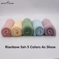 Rainbow Newborn Wraps Photo prop Knitted Wrap Stretchy wrap Newborn Photography Prop Knitted photo prop Wrap Photo Accessories