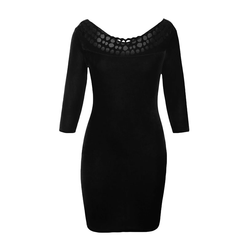 Long black pencil dresses