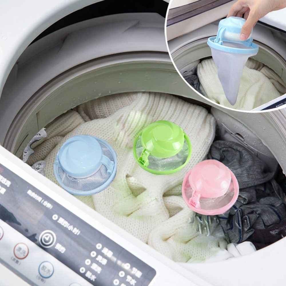 New Flower Shape Mesh Filter Bag Laundry Ball Floating Style Washing Machine Filtration Hair Removal Device House Cleaning Tools