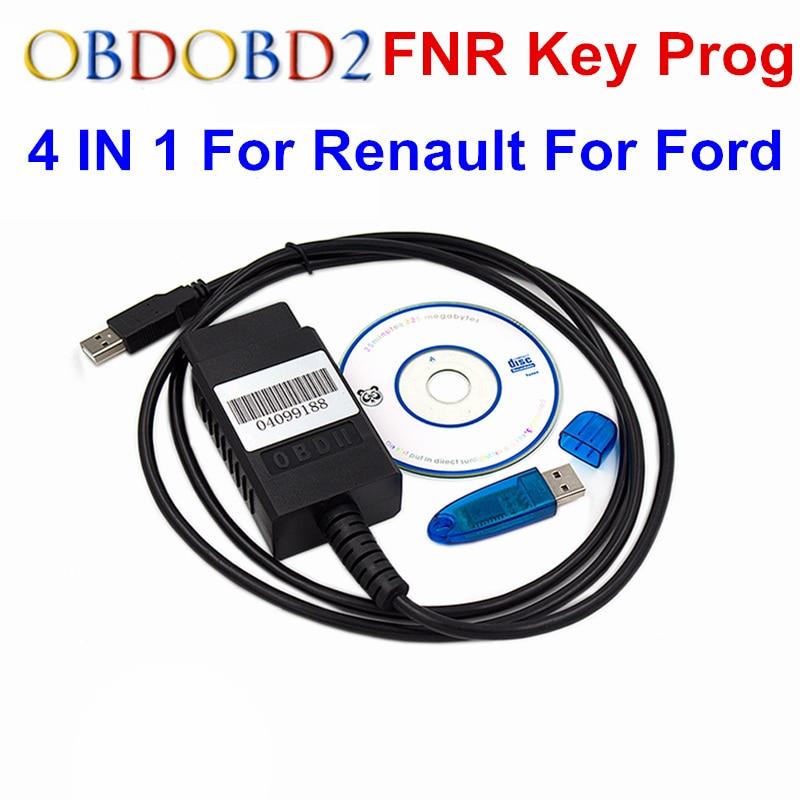 Цена за Высокое качество ФНР ключевых прог для Renault для ford nissan 4 в 1 программист ключ Авто Пульты дистанционного управления блок инструментов программирования