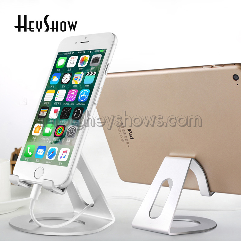 10x Universal Phone Holder For iPhone 8 7 6 6s Plus Table Stand For iPad Pro Aluminum Alloy Metal Holder Mobile Phone Stand Desk universal mobile phone cell phone holder stand black
