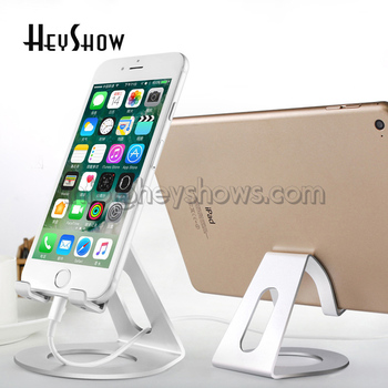 10x Universal Phone Holder For iPhone 8 7 6 6s Plus Table Stand For iPad Pro Aluminum Alloy Metal Holder Mobile Phone Stand Desk